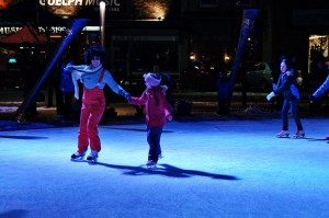 Ice skating in Fourth Friday's Guelph Photo by Randy Sutherland