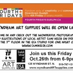 Wyndham Art Supplies Fourth Friday's Guelph