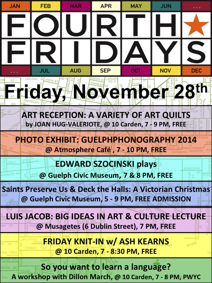 November Fourth Friday Guelph poster