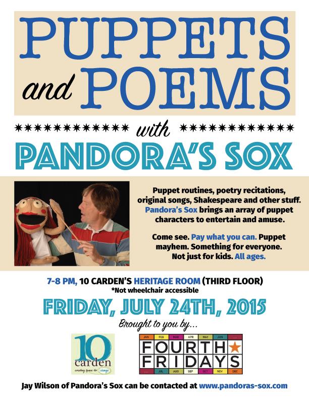 Pandoras Sox Fourth Friday's 10 Carden event poster
