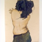 Vanessa Tignanelli painting of a woman's back Fourth Friday's Guelph