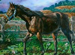 Race Horse Painting
