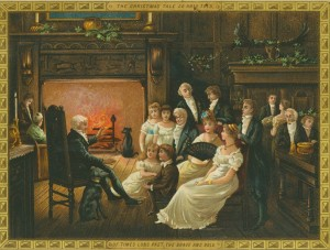 A Victorian Christmas painting