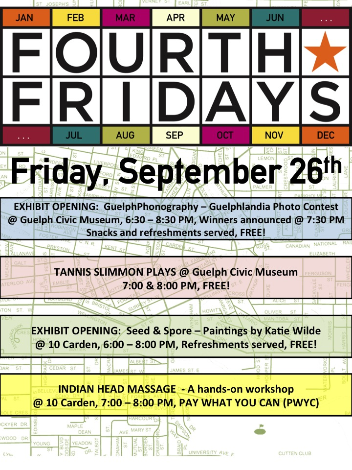 September Fourth Fridays Guelph poster