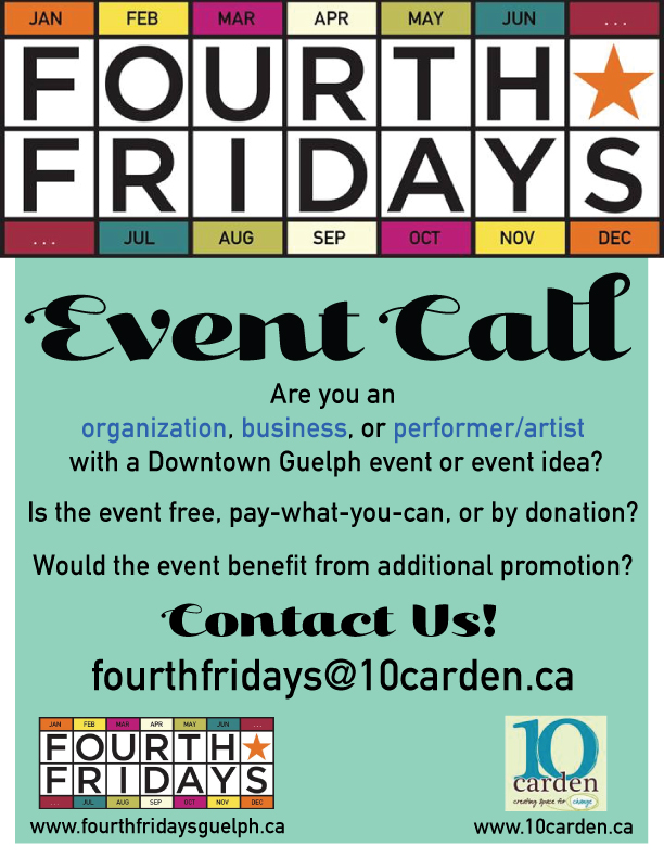 Fourth Friday's Guelph Event Call