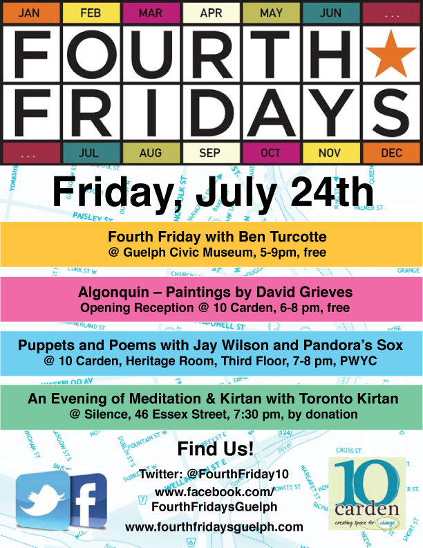 Fourth Friday's Poster July Lineup
