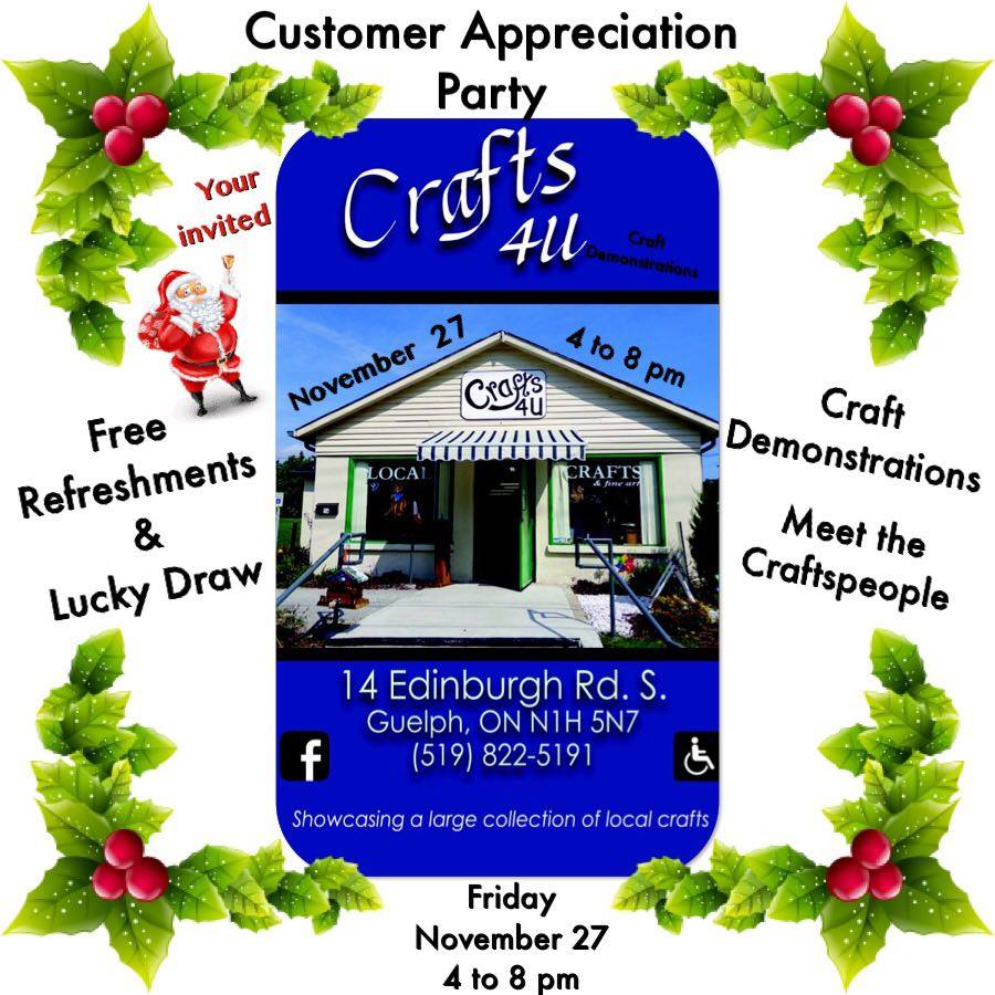 Crafts 4 U Customer Appreciation Party Guelph